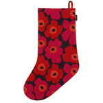 Mini Unikko Christmas Stocking, plum-red-orange