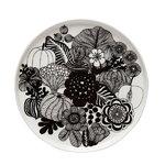 Oiva - Siirtolapuutarha lautanen, 20 cm, musta-valkoinen