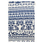 Y� mets�ss� tea towel, white-blue