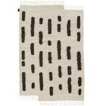 Laine rug woven, off white - black