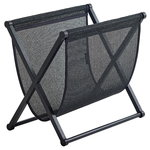 Magazine rack, black oak - black