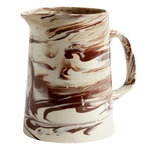 Marbled jug, brown