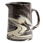 Marbled jug, black