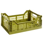 Colour crate, M, olive green
