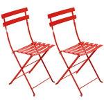 Bistro Metal chair, 2 pcs, poppy