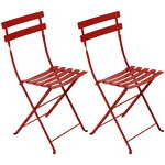 Bistro Metal chair, 2 pcs, chili