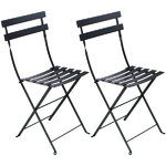 Bistro Metal chair, 2 pcs, liquorice