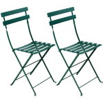 Bistro Metal chair, 2 pcs, cedar green