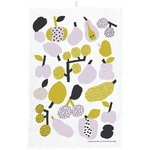 Tutti Frutti tea towel, olive green