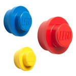 Lego wall hanger 3 pcs, red-blue-yellow