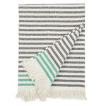 Telo da mare Tasaraita, bianco naturale - nero - verde