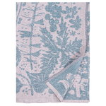 Lapuan Kankurit Villiyrtit tablecloth/throw, 150 x 200 cm, rose - petroleum