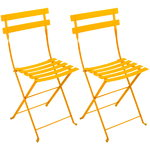 Bistro Metal chair, 2 pcs, honey
