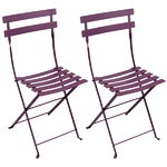 Bistro Metal chair, 2 pcs, aubergine