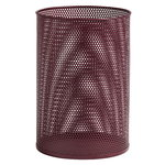 Perforated Bin, L, burgundy