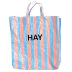 Candy Stripe shopper, XL, blue - orange