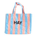 Candy Stripe shopper M, blue - orange
