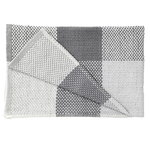 Loom throw, dark grey