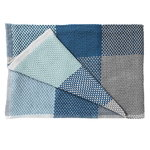 Loom throw, blue