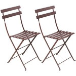 Bistro Metal chair, 2 pcs, russet
