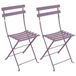 Bistro Metal chair, 2 pcs, plum