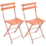 Bistro Metal chair, 2 pcs, carrot