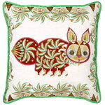 Pippa Cat cushion cover, linen - silk