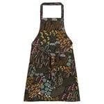 Pieni Letto apron, dark green - brown - peach