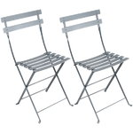 Bistro Metal chair, 2 pcs, storm grey