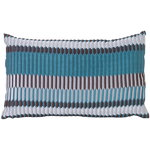 Cuscino Salon, 40 x 25 cm, Pleat, blu mare