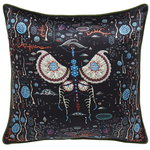 Black Lake cushion cover, silk