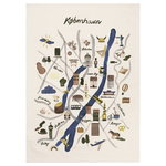Copenhagen tea towel, multicolor