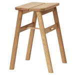 Angle stool, white oiled oak