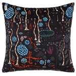 Black Lake cushion cover, cotton velvet