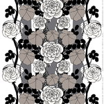 Unelma fabric, grey-black