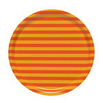 Tasaraita tarjotin, oranssi - keltainen
