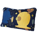 Jaime Hayon cushion, blue - yellow