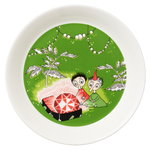 Arabia Moomin plate, Thingumy and Bob, green