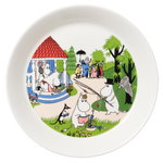 Moomin plate 19 cm, Going on vacation