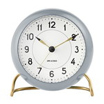 AJ Station table clock with alarm, grey
