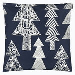 Kuusikossa cushion cover, 50 x 50 cm, dark blue - white