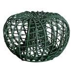 Cane-line Nest footstool, small, dark green