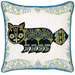 Putte Cat cushion cover, linen - silk