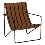 Desert lounge chair, black - stripes