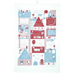 Calendar tea towel 2020, red