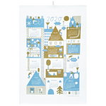 Calendar tea towel 2020, olive