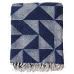 Twist a Twill blanket, navy blue