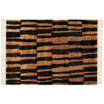 Pilari rug, hamppu, natural - black