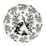 Taika deep plate 22 cm, deco black