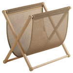 Magazine rack, oak - natural